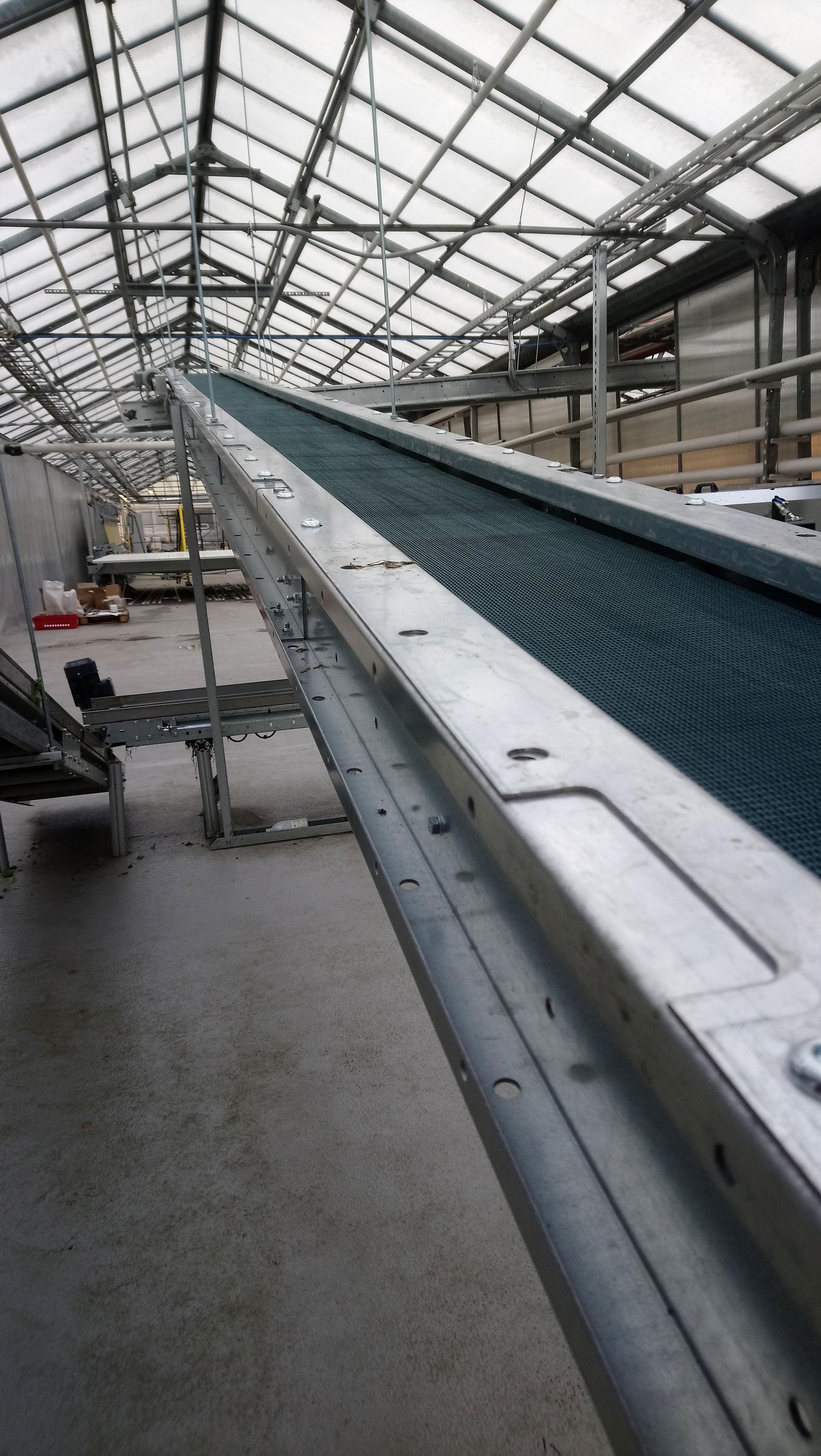 lintkonveier PVC beltconveyor
