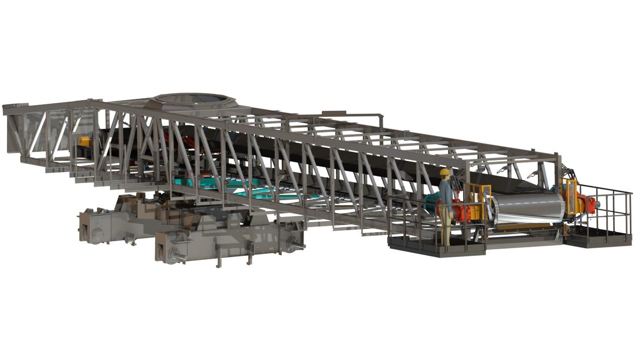 Lintkonveier stacker conveyor