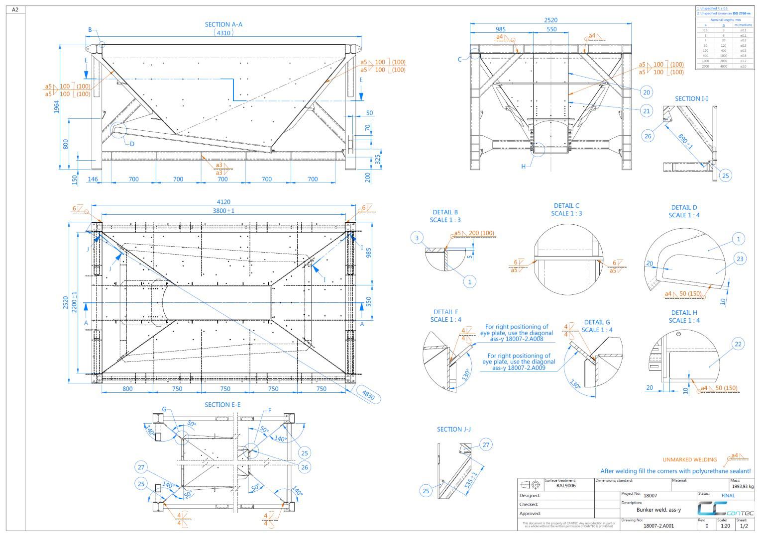 Joonised CAD drawings jooniste vormistamin