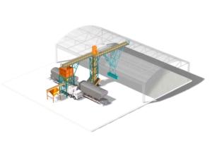 Chain conveyor feeding system kraapkonveier