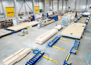 Modular houses assembly line equipment Moodulmajade koosteliin rulltee Линия сборки модульных домов
